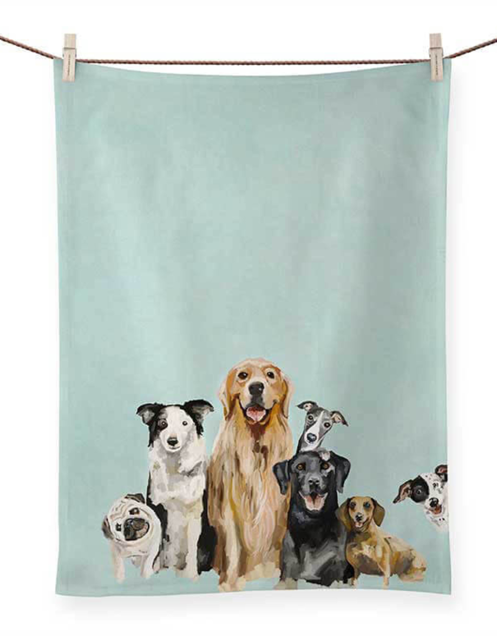 Greenbox Art Best Friends Puppy Pack Tea Towel