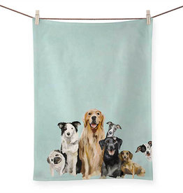 Greenbox Art Best Friends Puppy Pack Tea Towel
