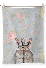 Greenbox Art Greenbox Bunny Friends Floral Tea Towels