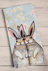 Greenbox Art Bunny Friends Floral Tea Towels