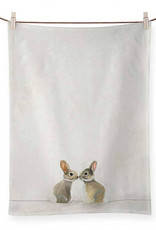 Greenbox Art Baby Bunnies Tea Towel