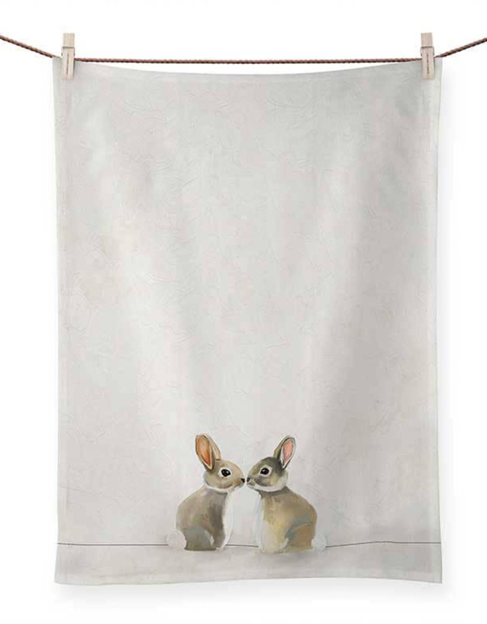 Greenbox Art Greenbox Baby Bunnies Tea Towel