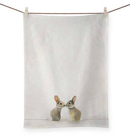 Greenbox Art Greenbox Baby Bunnies Tea Towel