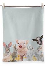 Greenbox Art Greenbox Spring Animal Babies Tea Towel