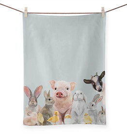 Greenbox Art Greenbox Spring Animal Babies Tea Towel
