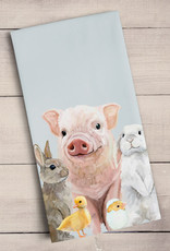 Greenbox Art Spring Animal Babies Tea Towel