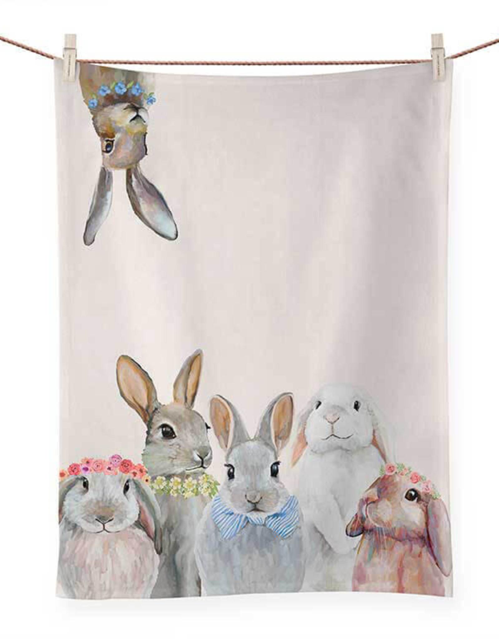 Greenbox Art Bunny Bunch Tea Towel
