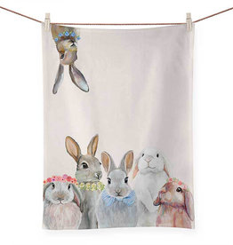 Greenbox Art Bunny Bunch Tea Towel