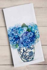 Greenbox Art Dreaming In Blue Hydrangeas Tea Towel
