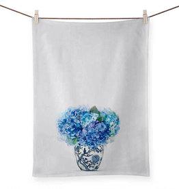 Greenbox Art Greenbox Dreaming In Blue Hydrangeas Tea Towel