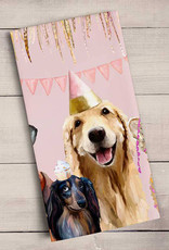 Greenbox Art Best Friend Party Pups Tea Towel