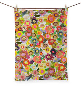 Greenbox Art Blooms Tea Towel