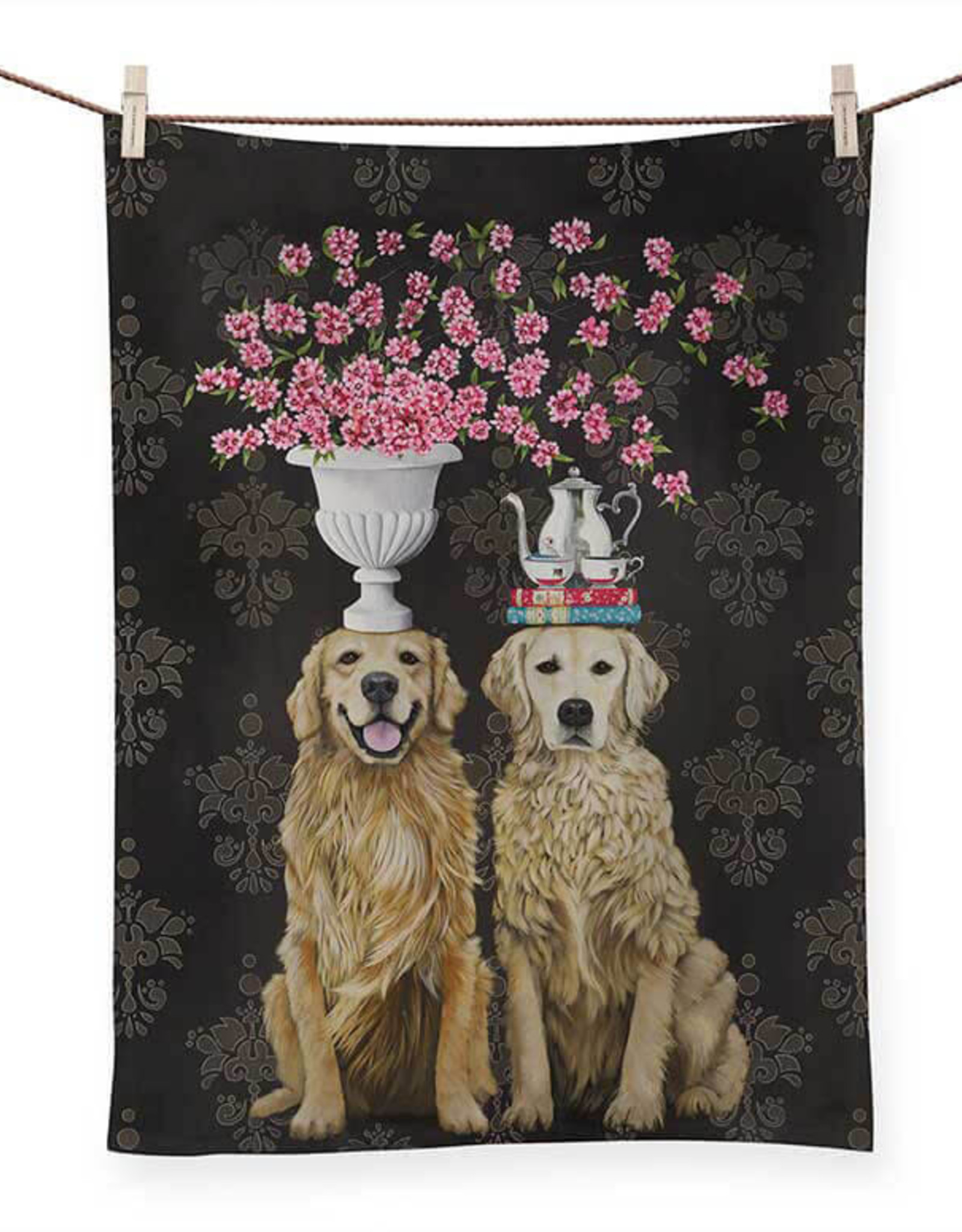 Greenbox Art Greenbox Golden Couple Tea Towel