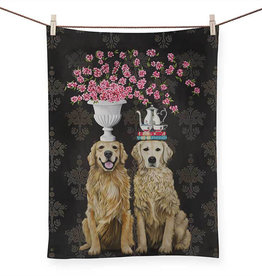 Greenbox Art Golden Couple Tea Towel