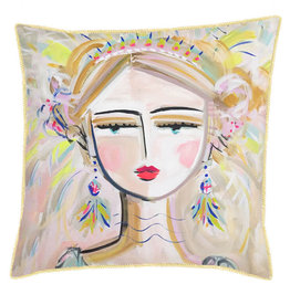 Greenbox Art She Is Fierce Pillow - Blonde