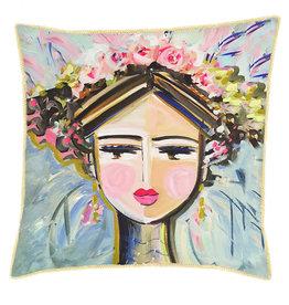 Greenbox Art Greenbox She Is Fierce Pillow - Brunette