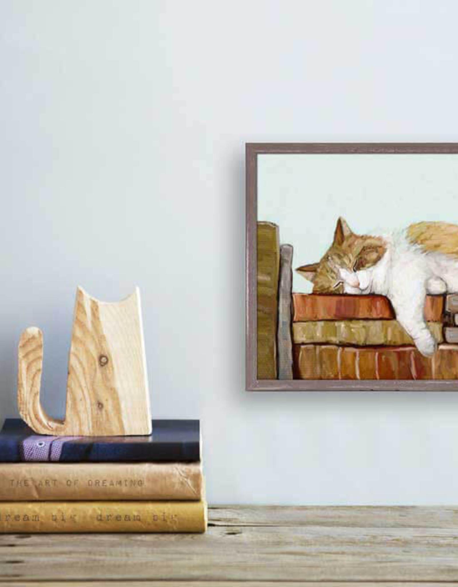 Greenbox Art Cat On Books 3 Mini Canvas 6x6