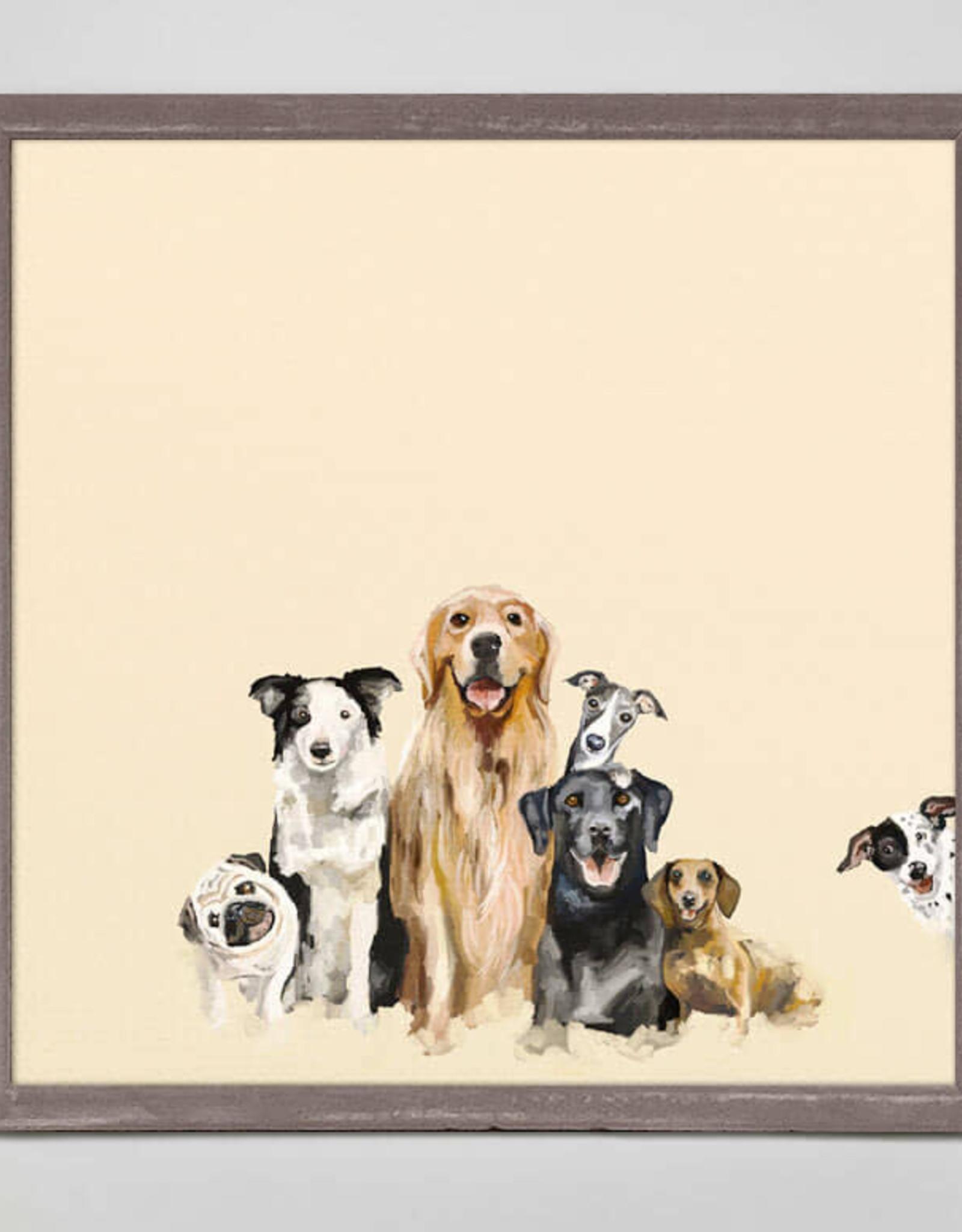 Greenbox Art Best Friends Puppy Pack Mini Framed Canvas 6x6