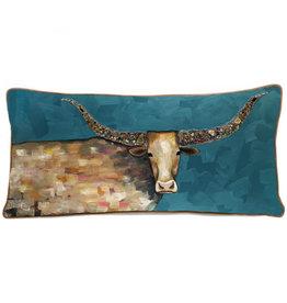 Greenbox Art Longhorn Geode Pillow 28x14