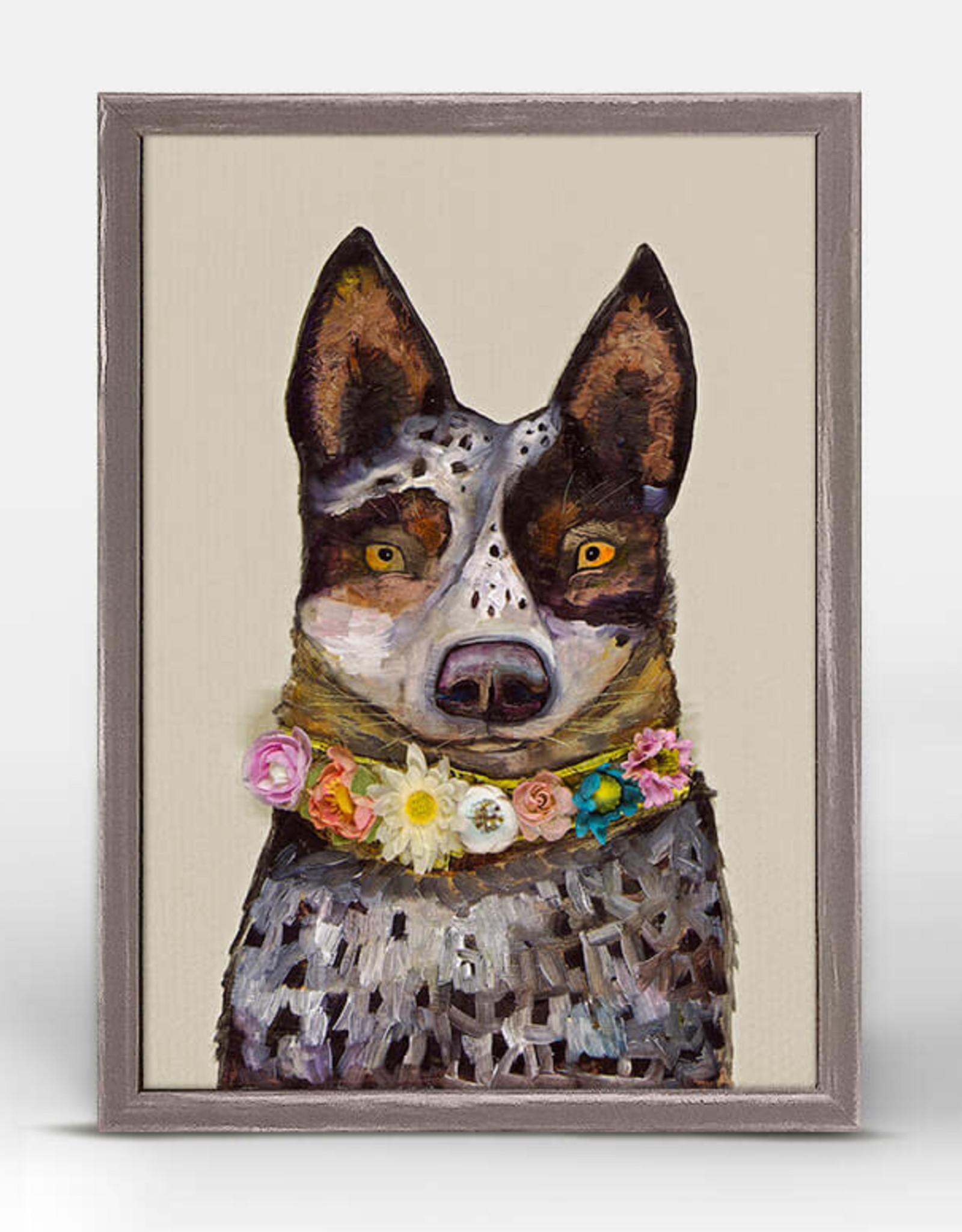 Greenbox Art Greenbox Cattle Dog Mini Canvas 5x7