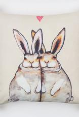 Greenbox Art Greenbox Bunny Friends Pillow