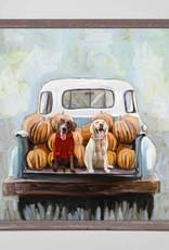 Greenbox Art Lab Pups In Truck Mini Canvas 6x6