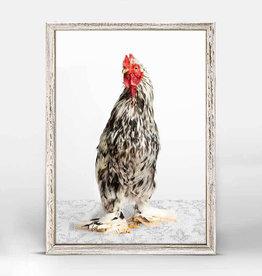 Greenbox Art Charming Chickens Blk/Wht Canvas