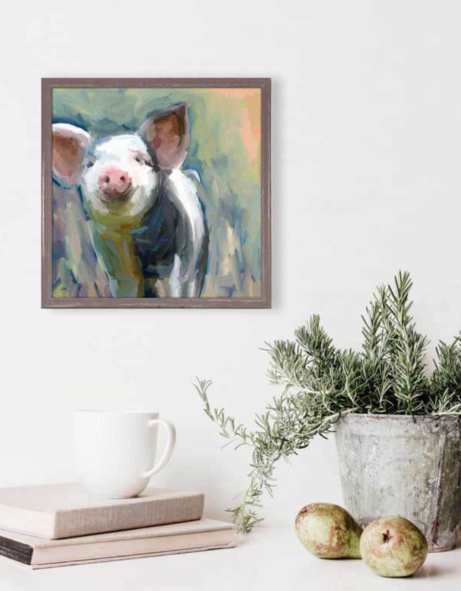 Greenbox Art Loosey Goosey Pig Mini Framed Canvas