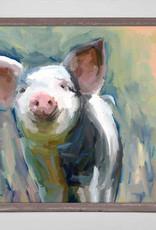 Greenbox Art Greenbox Loosey Goosey Pig Mini Framed Canvas