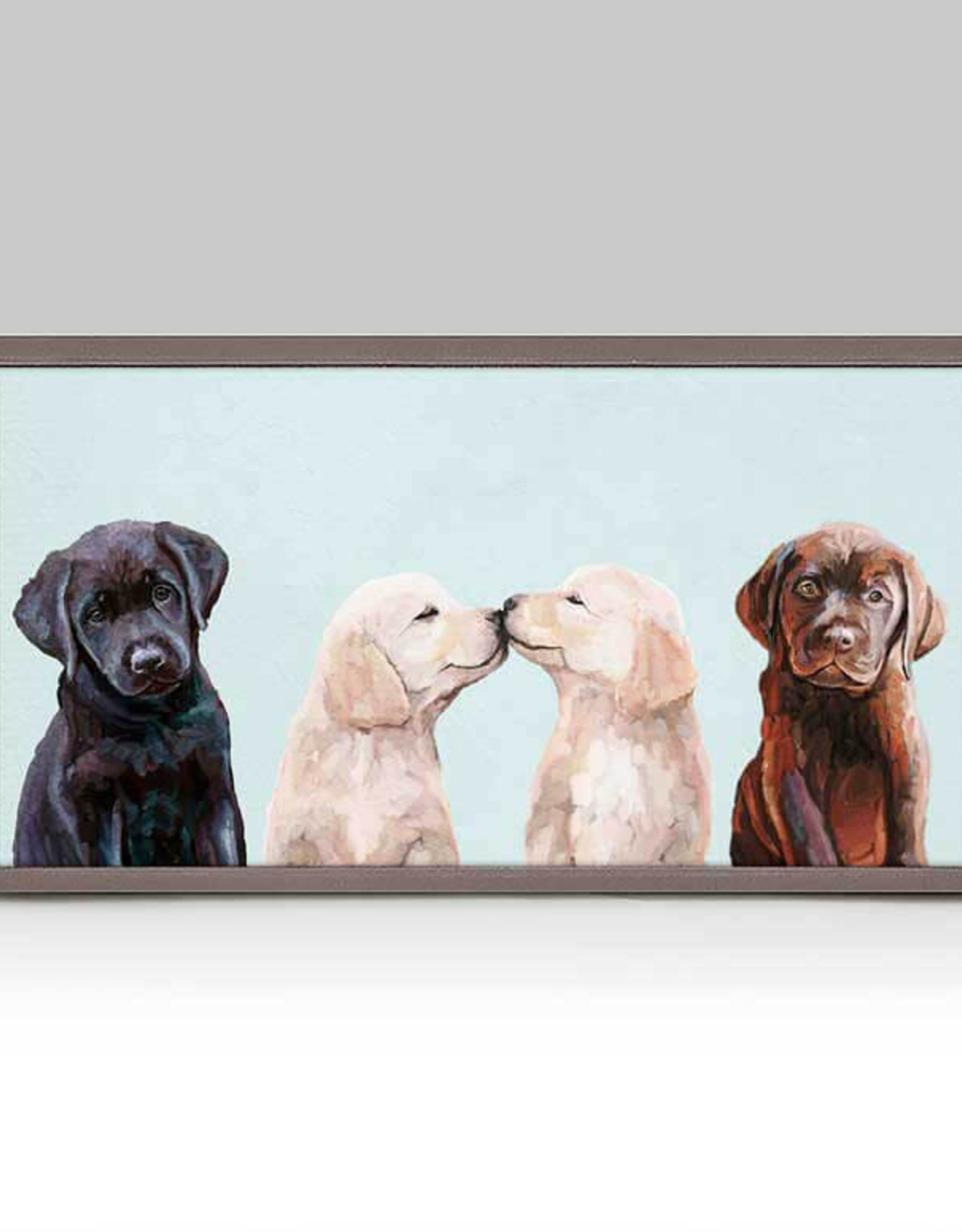Greenbox Art Greenbox Retriever Pup Row Close Up Mini Framed Canvas