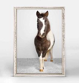 Greenbox Art Greenbox Petite Ponies Domino Mini Framed Canvas