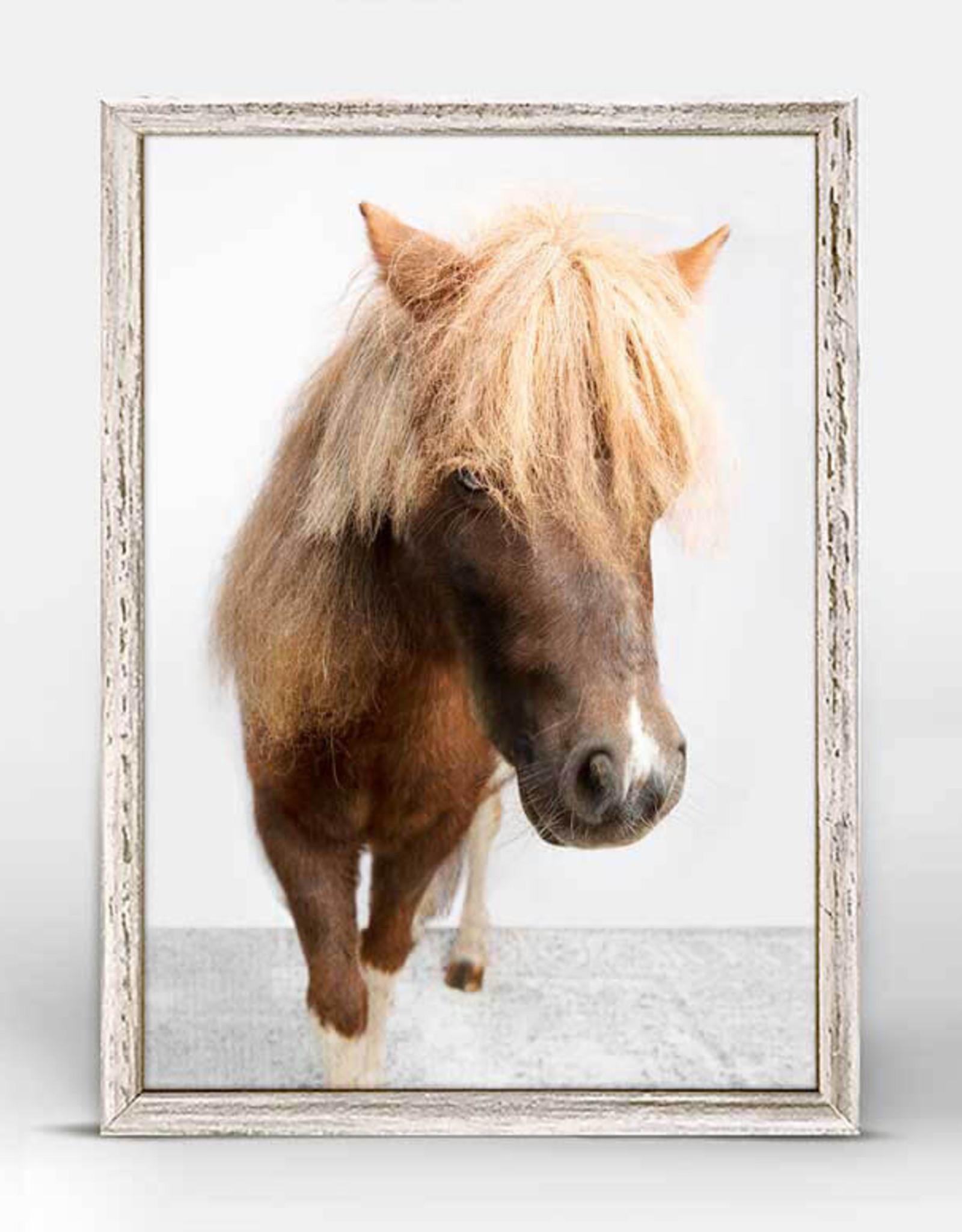 Greenbox Art Petite Ponies Sebastian Mini Framed Canvas