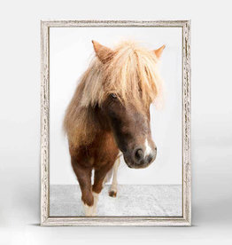 Greenbox Art Greenbox Petite Ponies Sebastian Mini Framed Canvas