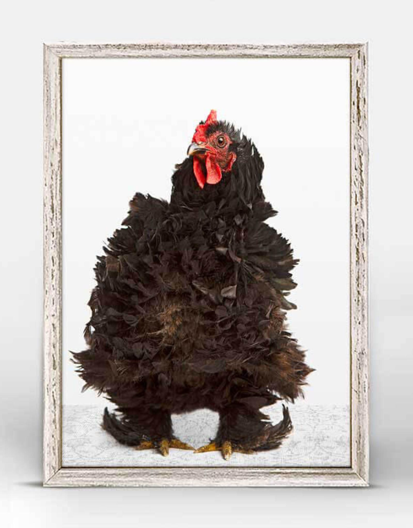 Greenbox Art Greenbox Charming Chickens So Fluffy Mini Canvas