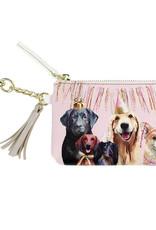 Greenbox Art Party Pups Key Pouch