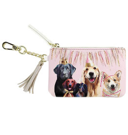 Greenbox Art Party Pups Key Pouch