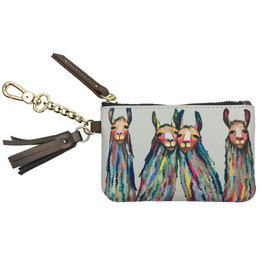 Greenbox Art Four Lively Llamas Key Pouch