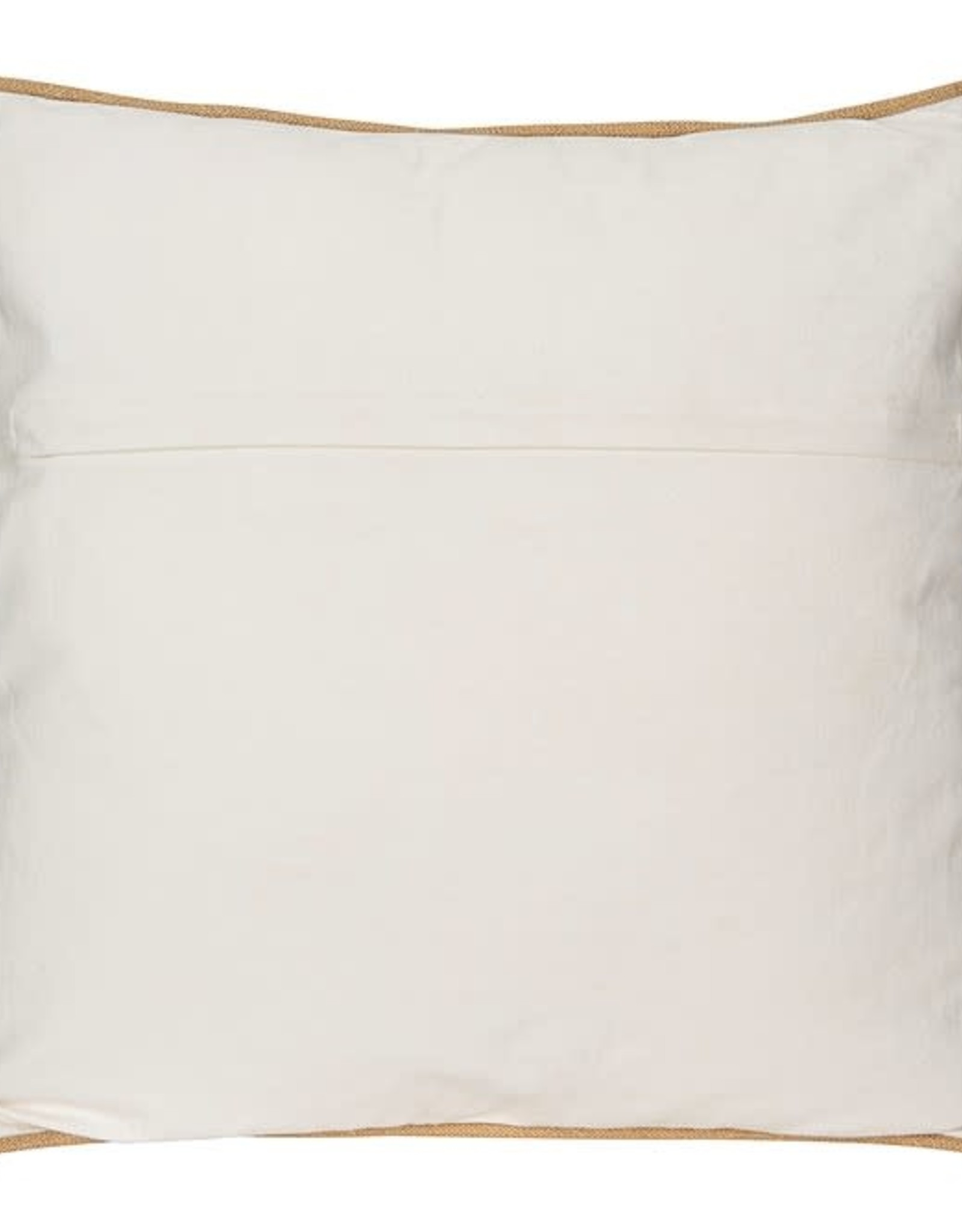 "Creative Co-op Square Cotton Pillow w/ Cow 20"""