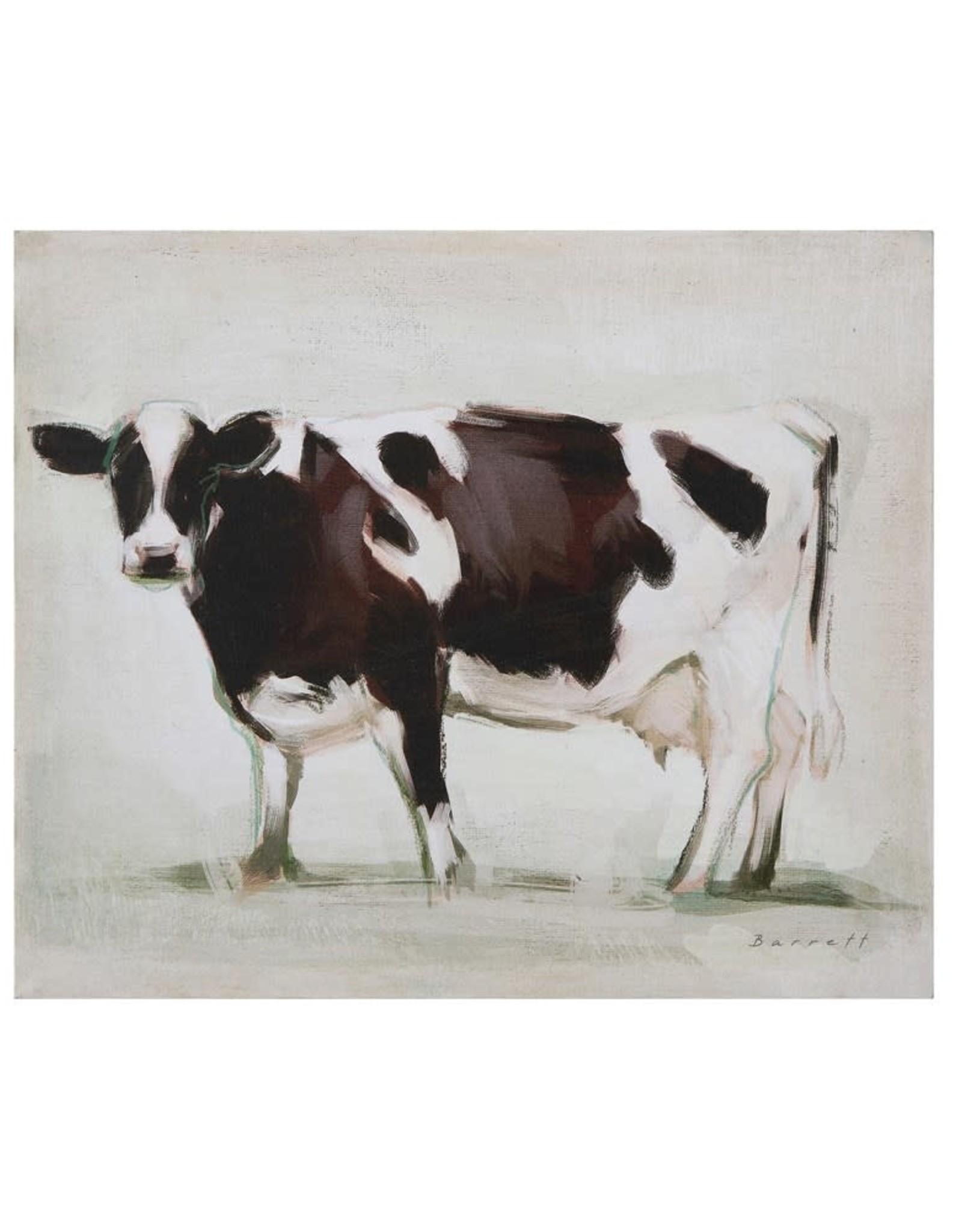 Creative Co-op Canvas Wall Decor w/ Cow