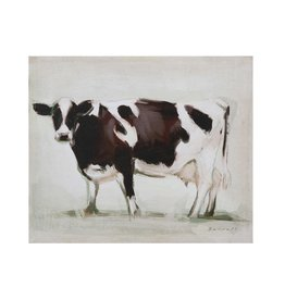 Creative Co-op Canvas Wall Decor w/ Cow