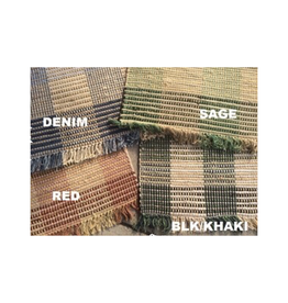 Indian Overseas Rug Booker Plaid Rag Rugs