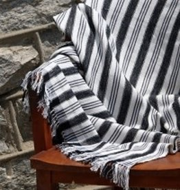 Black & Grey Stripe Throw