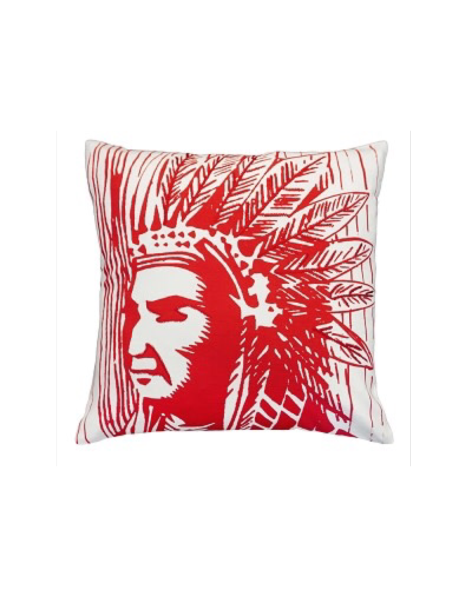 Michaelian Home Indian Warrior Pillow