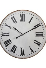 "Creative Co-Op 39-3/4"" Round Metal Wall Clock"