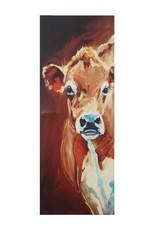 "17-3/4""L x 48""H Canvas Wall Decor w/ Cow"