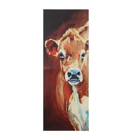 "17-3/4""L x 48""H Canvas Wall Decor w/ Cow"