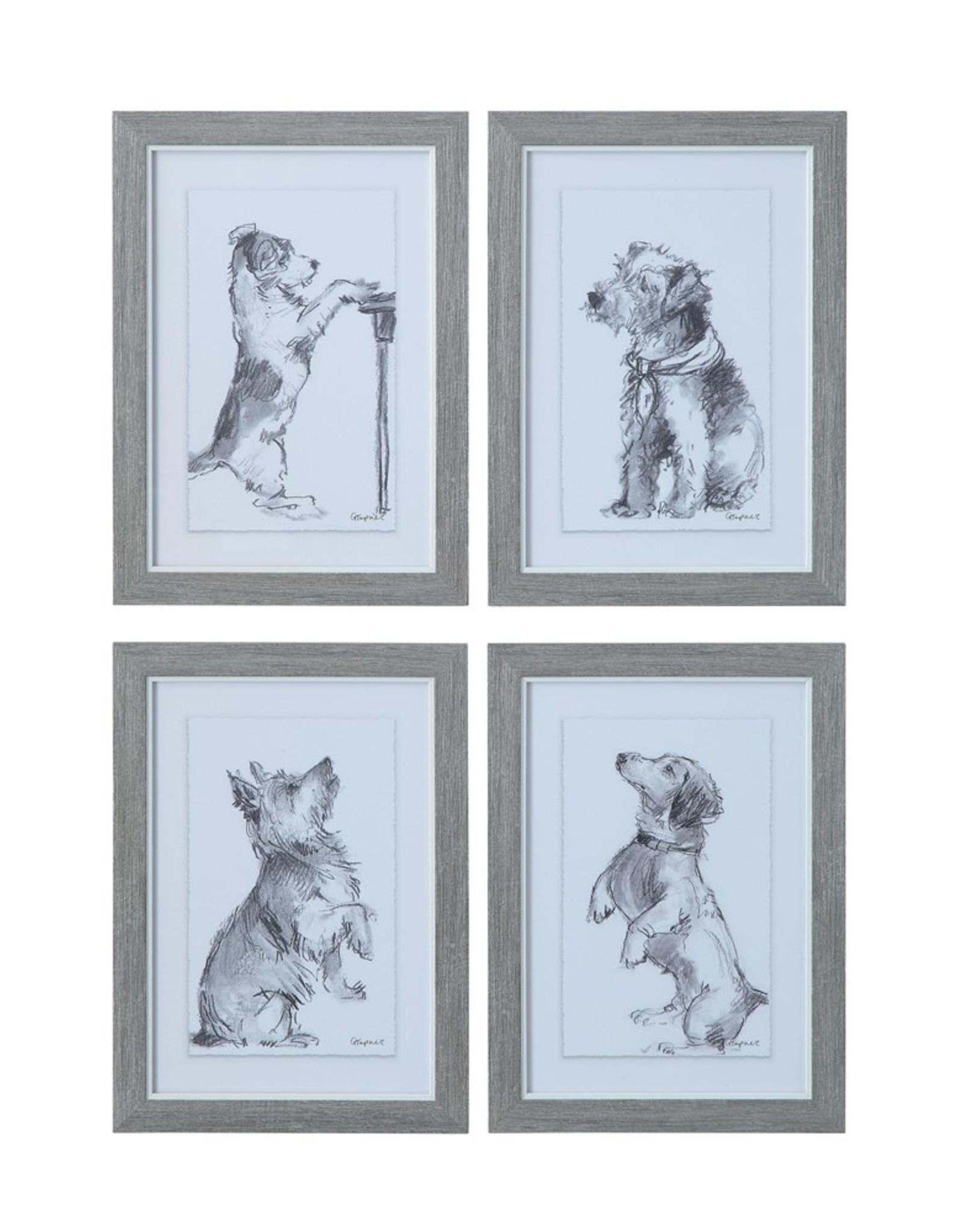 """10-1/4""""L x 14-1/4""""H Framed Wall Decor w/ Dog, 4 Styles"""