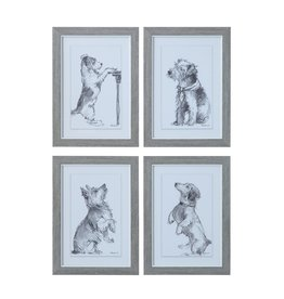 "Creative Co-Op 10-1/4""L x 14-1/4""H Framed Wall Decor w/ Dog, 4 Styles"