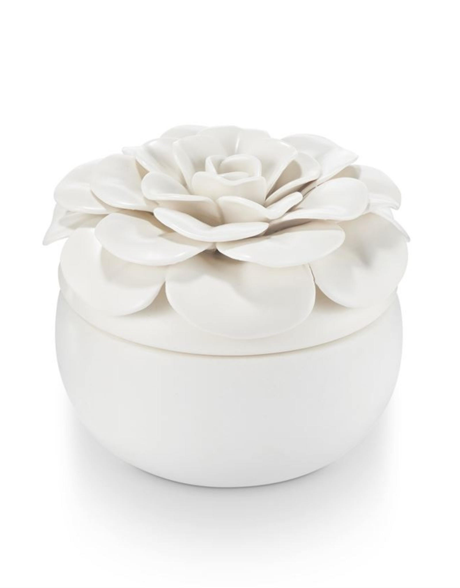 Illume Gardenia Ceramic Flower Candle