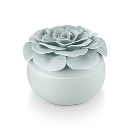 Illume Fresh Sea Salt Ceramic Flower Candle
